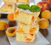 Cake with apricots Stock Photo