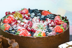 Cake. Awesome cake with forest fruts stock images