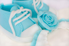 Cake for baby. Detail of cake for the baptism royalty free stock photos