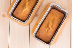 Cake baked in form close up. Stock Images