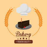 Cake bakery related emblem image Stock Photo