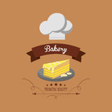Cake bakery related emblem image Royalty Free Stock Image