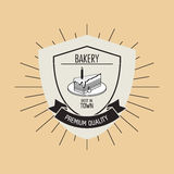 Cake bakery related emblem image Stock Images