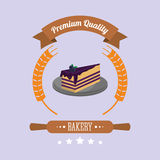 Cake bakery related emblem image Royalty Free Stock Images