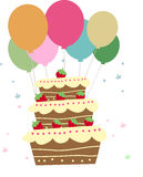 Cake and balloon Royalty Free Stock Images