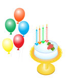 Cake and Balloons Royalty Free Stock Image