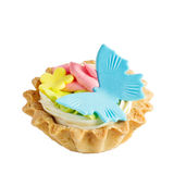 Cake basket with cream Royalty Free Stock Photos