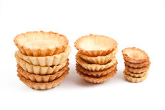 Cake baskets on white. Large and small cake baskets Stock Photo