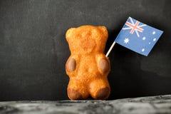 Cake bear and australia flag. Stock Image