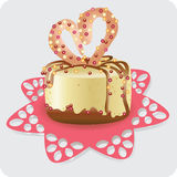 Cake for the beloved Vector image. Royalty Free Stock Images