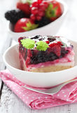 Cake with berries Stock Photography