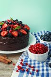 Cake with berries stock image