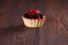 Cake with berries. Close-up Royalty Free Stock Photography