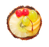 Cake with Berries and fruits over white Stock Images
