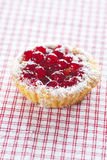 Cake with berries on plaid fabric Stock Images