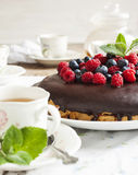 Cake with berries. Royalty Free Stock Photos