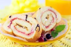 Cake with berries, sweet desert Stock Photos