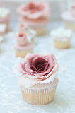 Cake with a big flower Royalty Free Stock Photo