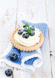 Cake with bilberries Royalty Free Stock Images