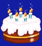 Cake of birthday Royalty Free Stock Images
