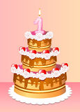Cake birthday Royalty Free Stock Image