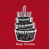 Cake birthday Royalty Free Stock Photos