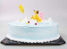 cake or birthday cake on a background. royalty free stock image