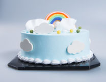 cake or birthday cake on a background. stock photography