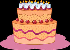 Cake, Birthday, Dessert, Torte Stock Photography