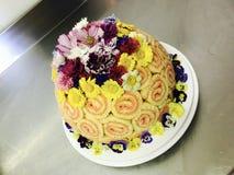 Cake. Birthday cake flower Stock Photography