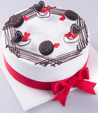Cake, birthday Ice-cream cake on the background stock photography