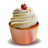 Cake birthday sweet cream cupcake delicious Stock Images