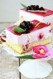 cake with black currant Royalty Free Stock Photography