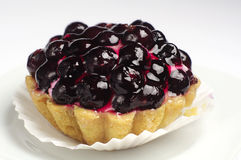 Cake with black currants Stock Photography
