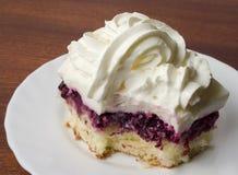 Cake with blackberries Stock Photos