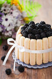 Cake with blackberrys Stock Photography