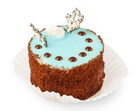 Cake with blue cream Royalty Free Stock Photo