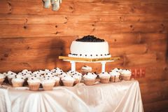 Cake with blueberries Royalty Free Stock Photography