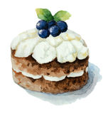 Cake with blueberries Stock Images