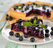 Cake with blueberries Royalty Free Stock Photos