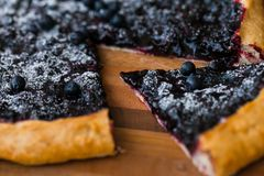 Cake with blueberry Royalty Free Stock Photography