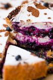 Cake with blueberry Stock Image