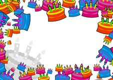 Cake border Royalty Free Stock Image