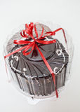 Cake box with bow Stock Images