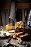 The cake with bran and sunflower seeds Stock Images