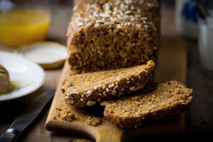 The cake with bran and sunflower seeds Stock Image