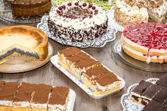 Cake Buffet Stock Photography