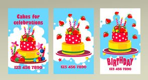 Cake business card Stock Images