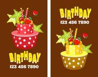 Cake business card Stock Image