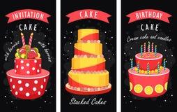 Cake business card Stock Photo